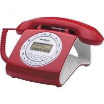Telefone com Identificador/Viva Voz Intelbras TC8312 Vermelho - Intelbras