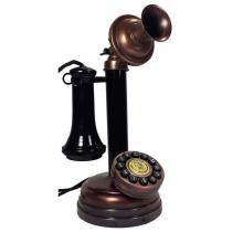 Telefone De Mesa Antigo Castiçal 1949 Retrô - Versare Anos Dourados