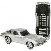 Telefone De Mesa Corvette Prata Oficial Gm - Versare Anos Dourados