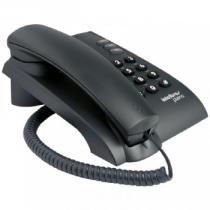 Telefone de Mesa Pleno com Chave Preto - Intelbras - Intelbras