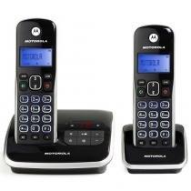 Telefone Digital Motorola Dect 6.0 Auri 3500-MRD2 10557 Sem Fio com Id. Chamadas, Viva-Voz, Visor e Teclado Iluminado + 1 Ramal - Motorola