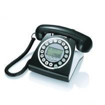 Telefone Digital Retrô Fashion Identificador Viva Voz Preto - Tm
