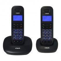 Telefone Digital Sem Fio Preto Vt650mrd2 Vtech -
