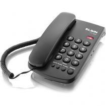 Telefone Elgin de Mesa com fio, Bloqueador Preto  TCF 2000 -