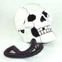Telefone em Formato de Cranio de Caveira Branco Modelo Diferente AR-5053 - Genérico