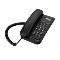 Telefone Fixo Com Fio Analógico Preto 3 Toques Tcf 2200 Elgin -