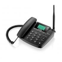 Telefone GSM Fixo Dual Chip Elgin Preto GSM200 com Quad-band e Identificador de Chamada -