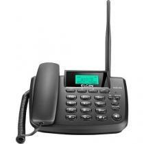 Telefone GSM Fixo Dual Chip Preto GSM200 com Quad-band e Identificador de Chamadas - Elgin -