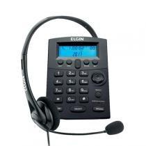 Telefone Headset Com Identificador Preto Hst-8000 Elgin -