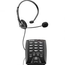 Telefone Headset com Teclado com Saída para Gravação Preto HST 6000 - Elgin