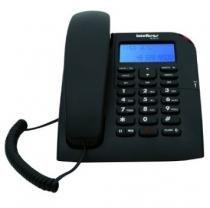 Telefone Intelbras TC 60 preto com identificador de chamadas -