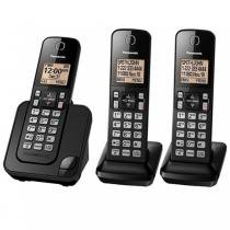 Telefone Panasonic sem fio KX-TGC353 com 3 aparelhos -