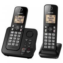 Telefone Panasonic sem fio KX-TGC362 com 2 aparelhos - Panasonic