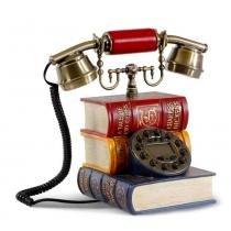 Telefone Retrô Livros Biblioteca - Zgp