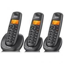 Telefone sem Fio + 2 Ramais TSF 7003, Viva Voz, Identificador de Chamadas, Restrição de Chamadas, Ag - Elgin