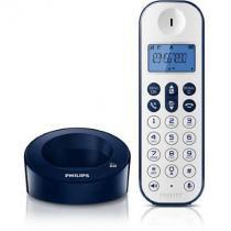 Telefone Sem Fio Branco Azul Philips D1211WD-BR - Philips