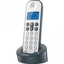 Telefone sem Fio Branco e Cinza Philips D1211WG-BR - Philips