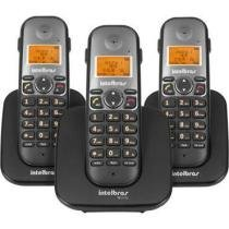 Telefone Sem Fio Com 2 Ramais Adicionais TS 5123 Intelbras -