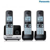 Telefone Sem Fio Com 2 Ramais KXTG6713LBB Panasonic -