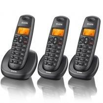 Telefone sem Fio com 2 Ramais Viva-Voz TSF 7003 Preto - Elgin - Elgin