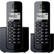 Telefone sem fio com base + ramal com id kx-tgb112lbb preto panasonic -