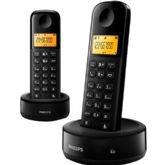 Telefone Sem Fio Com Base + Ramal D130 Preto Philips D1302B/BR - Philips