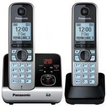 Telefone sem fio com base + ramal kx-tg6722 preto/prata panasonic - Panasonic