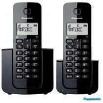 Telefone sem Fio com Base + Ramal KX-TGB112LBB 1.9 GHz Preto - Panasonic -