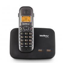 Telefone Sem Fio Com Entrada Para 2 Linhas Preto TS5150 4125150  Intelbras -