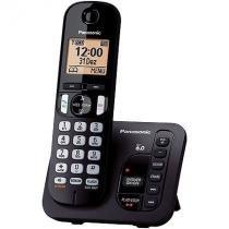 Telefone sem fio com id 6.0 1.9 ghz  kx-tgc220lbb secretaria eletronica expansivel ate 6 ramais panasonic - Panasonic