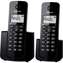 Telefone sem Fio com ID Base com Ramal KX-TGB112LBB Preto Panasonic - Panasonic