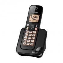 Telefone sem fio com ID Preto KX-TGC350LBB - Panasonic - Panasonic