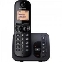 Telefone sem fio com id/secretaria/viva voz kx-tgc220lbb preto panasonic - Panasonic