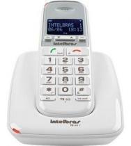 Telefone Sem Fio Com Ident Chamada TS 63 V Branco Intelbras -