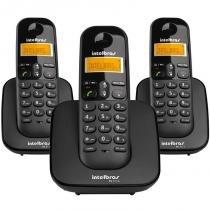 Telefone sem Fio com Identificador + 2 Ramais TS3113 Preto - Intelbras - Intelbras