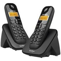 Telefone sem fio com identificador de chamadas + ramal ts3112 preto 4123102 - Intelbras