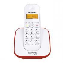 Telefone sem Fio com Identificador Intelbras TS3110 Branco/Vermelho -