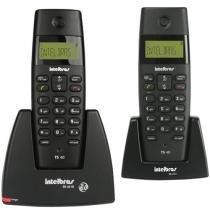 Telefone Sem Fio com Ramal, Dect TS 40 C com Identificador de Chamadas - INTELBRAS -