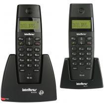 Telefone sem Fio com Ramal e Identificador Dect 1.9Ghz Intelbras TS40C - Preto -