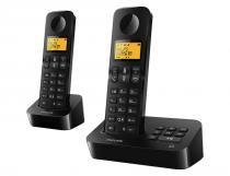 Telefone Sem Fio D2152B/BR Preto Philips - Philips