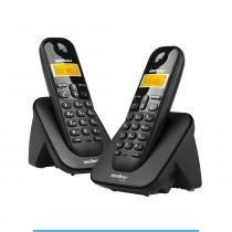 Telefone sem fio digital com ramal adicional TS 3112 Intelbras - Preto -