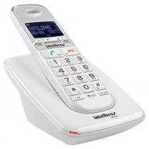 Telefone sem fio digital intelbras ts63v branco, com identificador de chamadas, viva-voz, expansivel -
