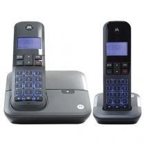 Telefone Sem Fio Digital Motorola até 4 ramais - Identificador de Chamadas MOTO4000 MRD2