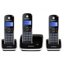 Telefone Sem Fio Digital Motorola Auri 3500-MRD3 com Id. Chamadas Viva-Voz Visor e Teclado Iluminado 2 Ramais - Motorola
