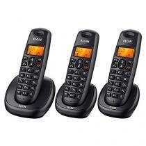 Telefone Sem Fio Elgin TSF-7003 2 Ramais com Identificador de Chamadas com Viva Voz Preto