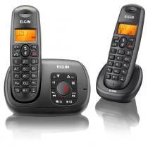 Telefone Sem Fio Elgin TSF 702SE Dect 6.0 Bina Secretaria Eletrônica - Elgin