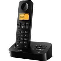 Telefone Sem Fio Ident. Chamadas D2051b Preto Philips - Philips