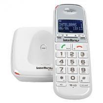 Telefone sem fio intelbras com identificador ts 63 v branco - Intelbras