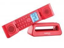 Telefone sem fio intelbras icon 4128528 ts8520 vermelho com identific.chamada e viva voz - Intelbras icon
