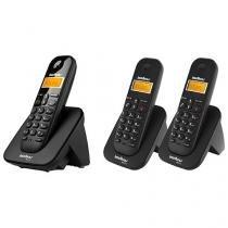 Telefone Sem Fio Intelbras Identific. de Chamadas - Chamada em Conferência TS 3110 + 2 Ramais Sem Fio